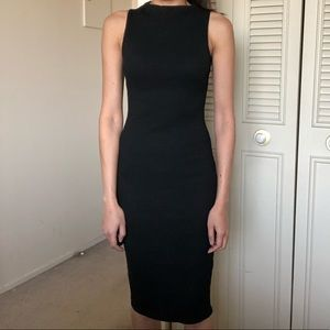 Mid length body con dress